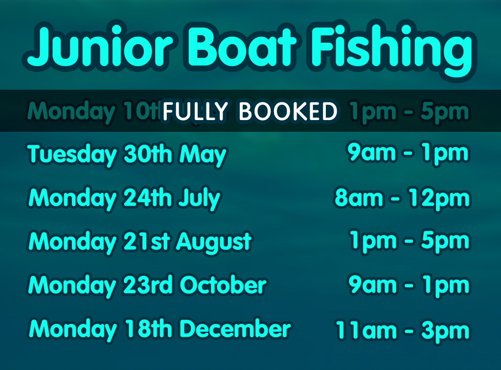 Junior Boat Fishing Dates